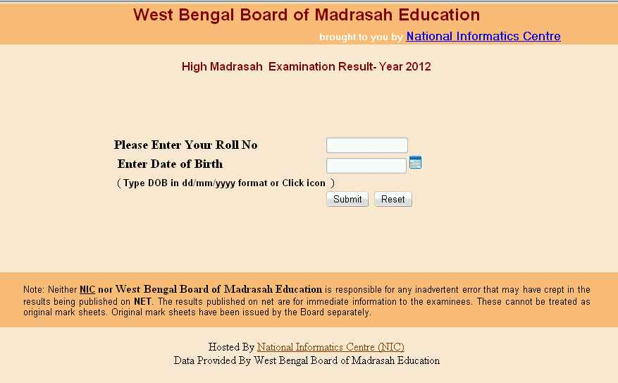 West bengal board of secondary education code number