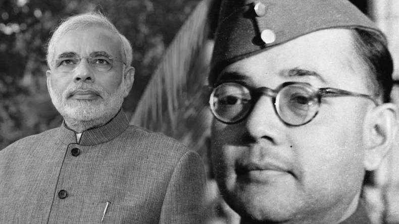 news on receiving family members of Subhash Chandra Bose