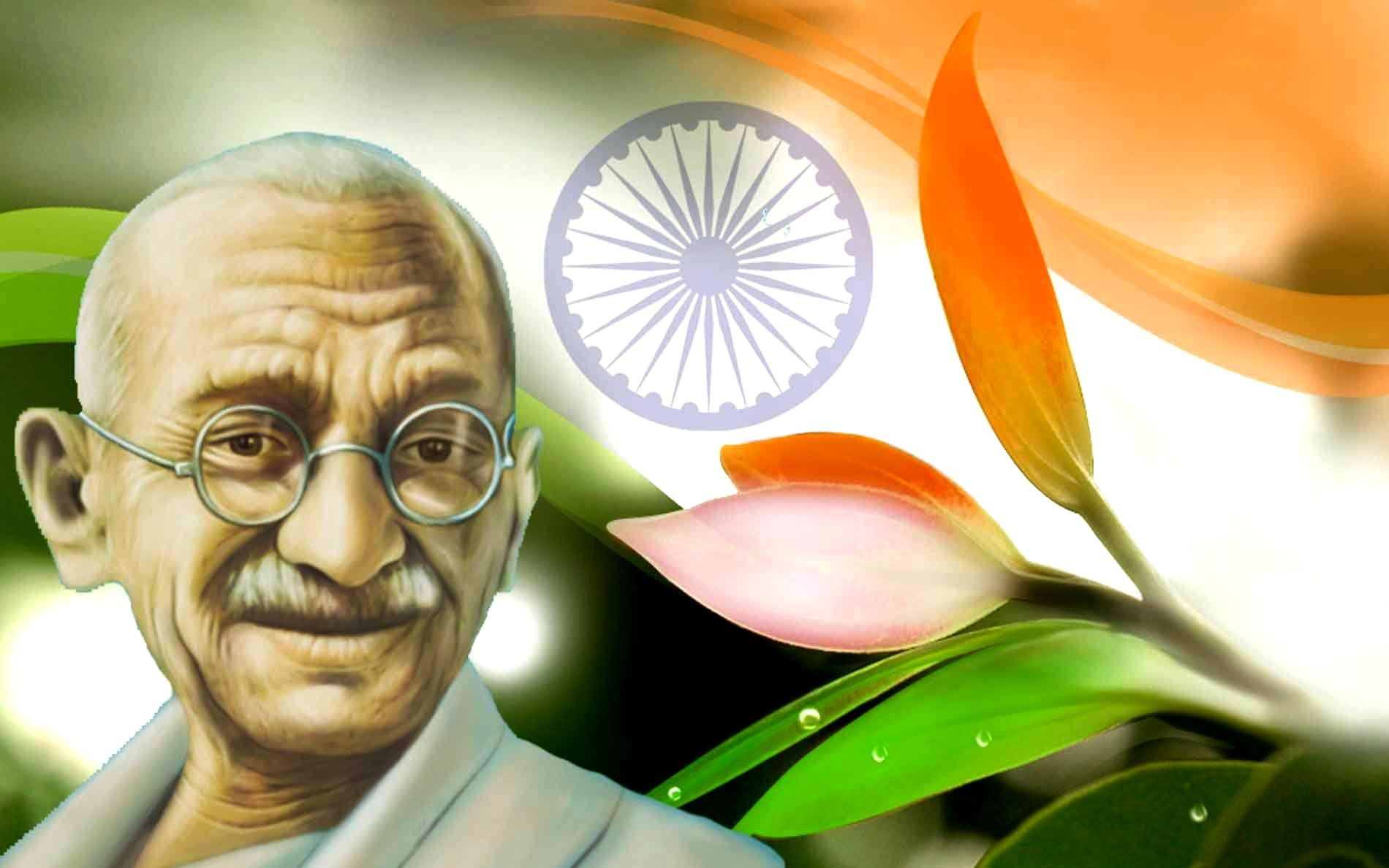 Gandhi Ji With Indian Flag Hd: Top 40 Facts About Mahatma Gandhi: The Father Of The Nation