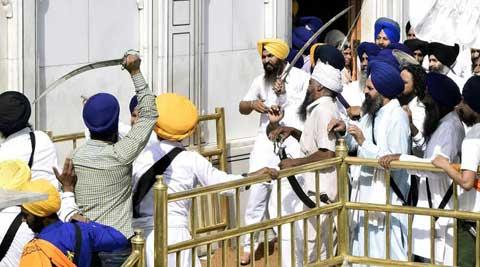 clash in temple