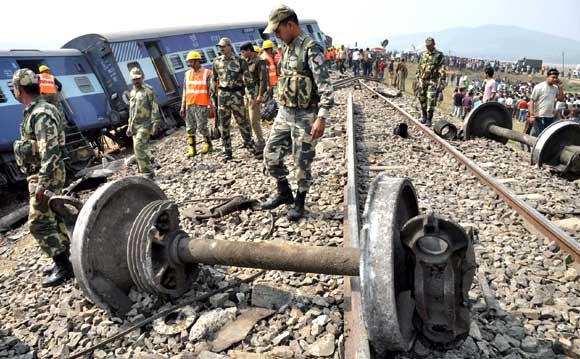 Train Derailed in Assam