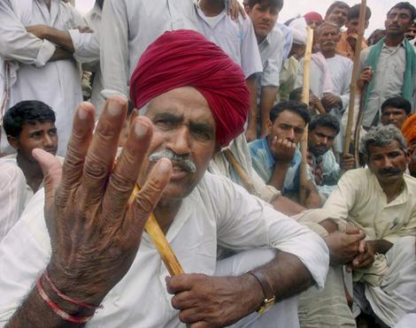 Gujjar community showed protest in claim of Reservation