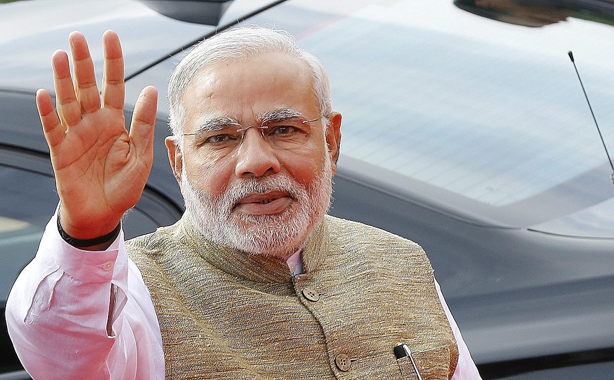 Australian Prime Minister Tony Abbott With Indian Prime Minister