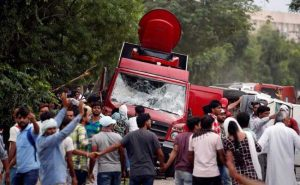 Riots in Punjab & Haryana, Protests by Dera Sacha Sauda followers